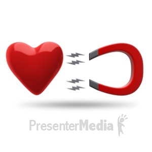 ID# 18107 - Heart Magnet Attract - Presentation Clipart