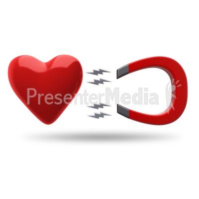 Heart Magnet Attract PowerPoint Clip Art