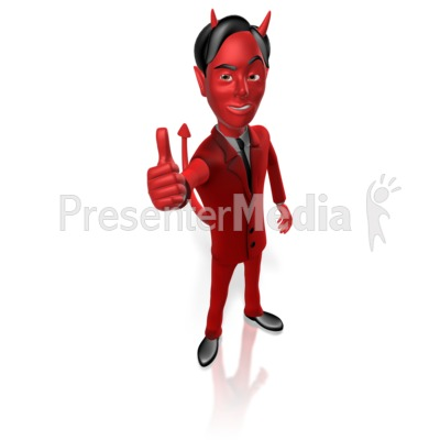 Devil Thumbs Up PowerPoint Clip Art