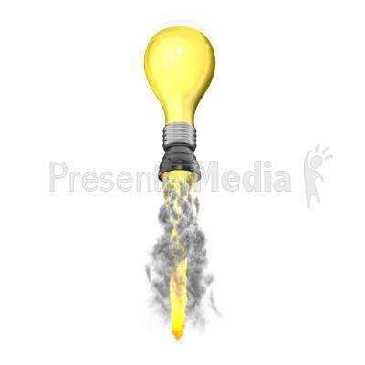 Light Blub Idea Rocket PowerPoint Clip Art