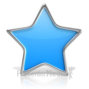 ID# 18141 - Basic Star - Presentation Clipart