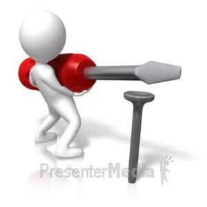ID# 18142 - Figure Nail Screwdriver - Presentation Clipart