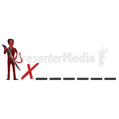 Devil Sign Dotted Line PowerPoint Clip Art