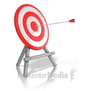 ID# 18180 - Arrow Target Bullseye - Presentation Clipart