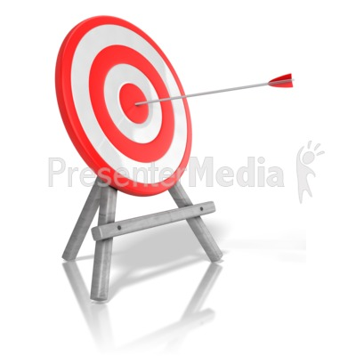 Arrow Target Bullseye PowerPoint Clip Art