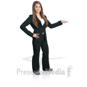 ID# 18186 - Young Girl Professional Display - Presentation Clipart