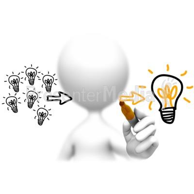Lots Of Ideas One Winner PowerPoint Clip Art