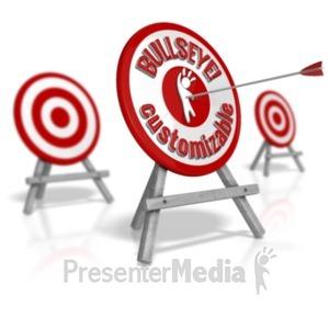 ID# 18207 - Custom Target Standout Bullseye - Presentation Clipart