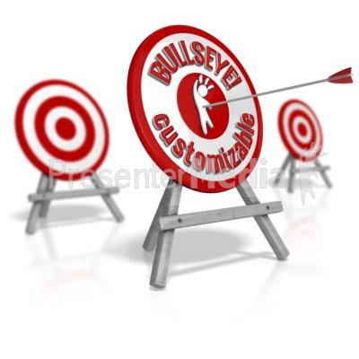 Custom Target Standout Bullseye Presentation clipart