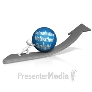 ID# 18256 - Pushing Custom Ball Up Arrow - Presentation Clipart