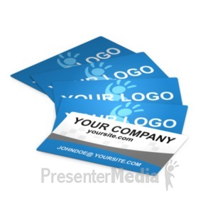 ID# 18277 - Business Cards Laid Out - Presentation Clipart