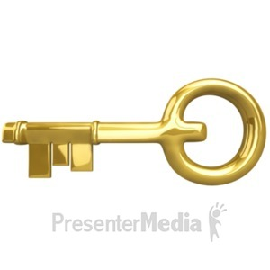 ID# 18286 - The Golden Key - Presentation Clipart