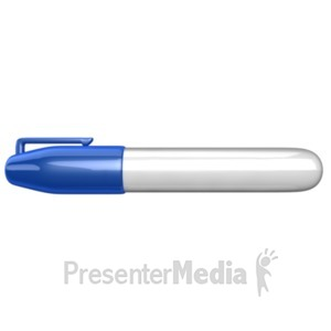 ID# 18300 - Marker Side View - Presentation Clipart