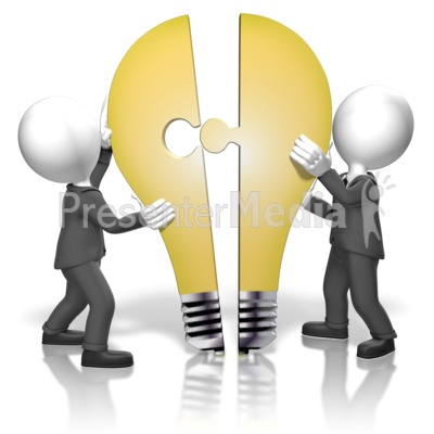 Businessmen Merge Idea PowerPoint Clip Art