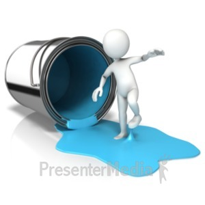 ID# 18344 - Sticky Paint On Feet - Presentation Clipart