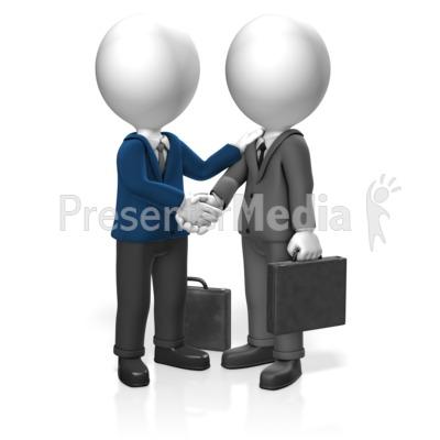 Businessmen Greet PowerPoint Clip Art