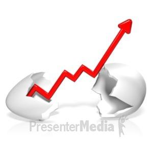 ID# 18374 - Broken Egg Graph - Presentation Clipart