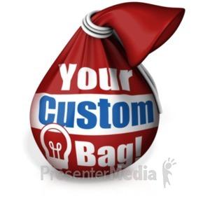 ID# 18405 - Tie Bag Custom - Presentation Clipart