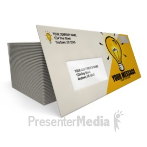 ID# 18425 - Business Envelope - Presentation Clipart