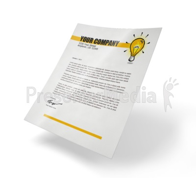 Simple Paper Presentation clipart
