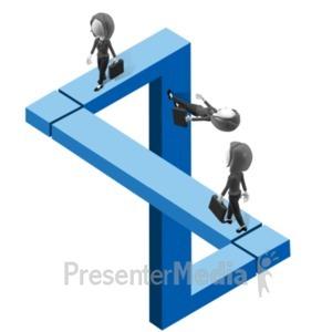 ID# 18442 - Figure Illusion Path Women - Presentation Clipart