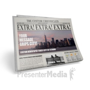 ID# 18452 - Single Newspaper - Presentation Clipart