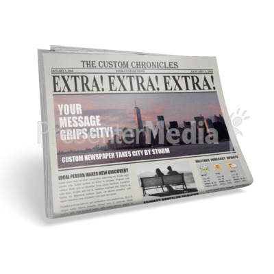 Single Newspaper Presentation clipart