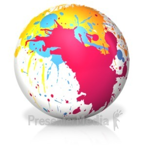 ID# 18453 - Paint Splatter Ball - Presentation Clipart