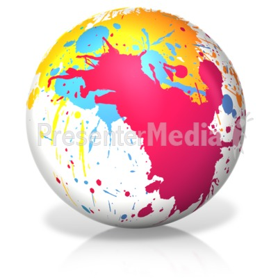 Paint Splatter Ball PowerPoint Clip Art