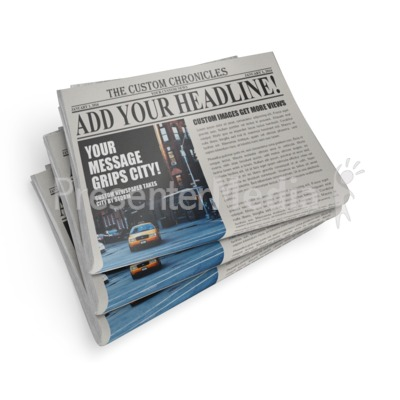 Newspaper Stack Presentation clipart