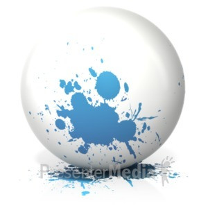 ID# 18459 - Paint Splatter Single Color - Presentation Clipart