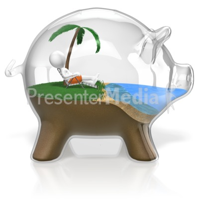Presenter media powerpoint templates 3d animations and clipart id 18474 piggy bank vacation presentation clipart toneelgroepblik Image collections