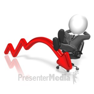 ID# 18502 - Businessman Resting Arrow - Presentation Clipart