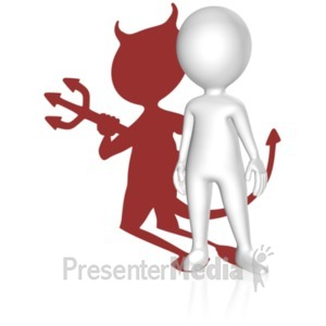 ID# 18517 - Shadow Devil Figure - Presentation Clipart