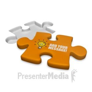 ID# 18523 - Puzzle Piece Custom - Presentation Clipart