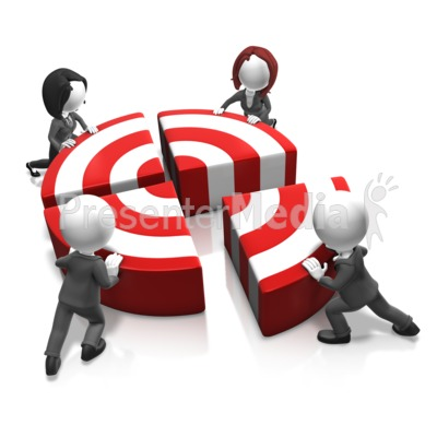 Push The Bullseye PowerPoint Clip Art