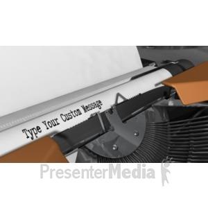 ID# 18532 - Typewriter Custom - Presentation Clipart
