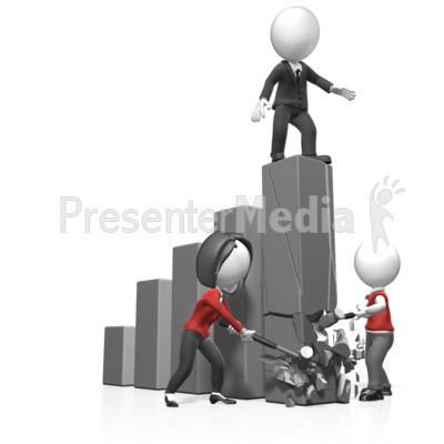 Figures Break Bar Graph PowerPoint Clip Art