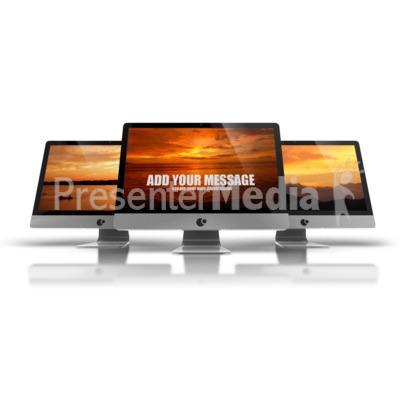 Three Monitors Presentation clipart