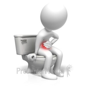 ID# 18543 - Toilet Stomach Problems - Presentation Clipart