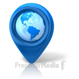 ID# 18565 - Navigation Pointer Earth - Presentation Clipart
