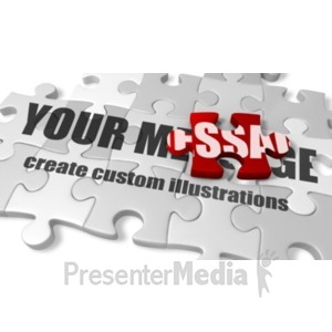 ID# 18576 - Custom Puzzle Pieces - Presentation Clipart