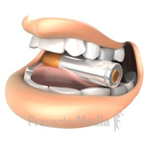 ID# 18609 - Biting The Bullet - Presentation Clipart