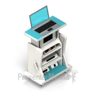 ID# 18616 - Medical Stand Ekg - Presentation Clipart