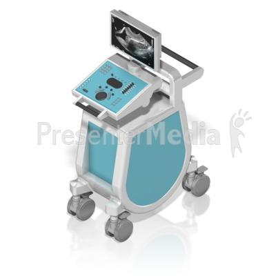 Ultrasound Machine Isometric PowerPoint Clip Art