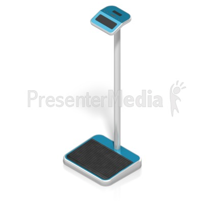 Digital Weight Scale Isometric PowerPoint Clip Art