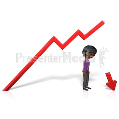 Business Woman Broken Arrow PowerPoint Clip Art