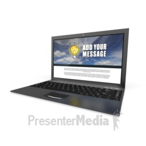ID# 18636 - Laptop Computer 16 9 - Presentation Clipart