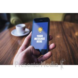ID# 18644 - Phone Hand Background - Presentation Clipart