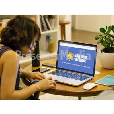 Laptop Woman Desk Presentation clipart